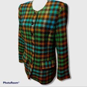 Mondi | Vintage Wool Plaid Coat